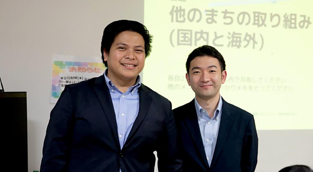 (左)ギラン・アンディ・プラダナ氏、(右)清藤 貴博氏 画僧