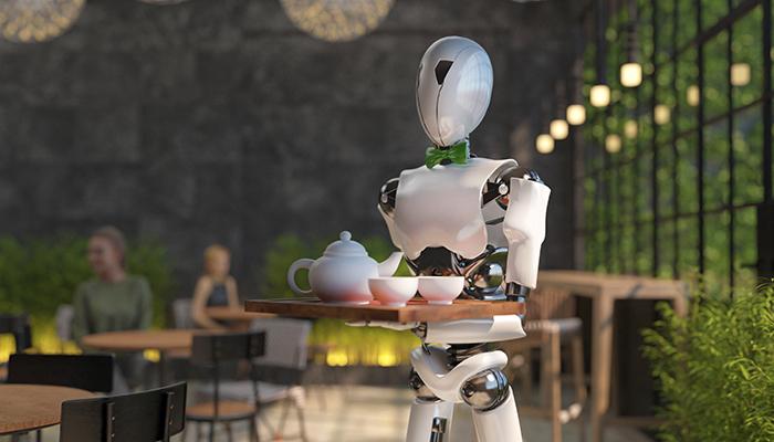 ロボットが配膳しているイメージ