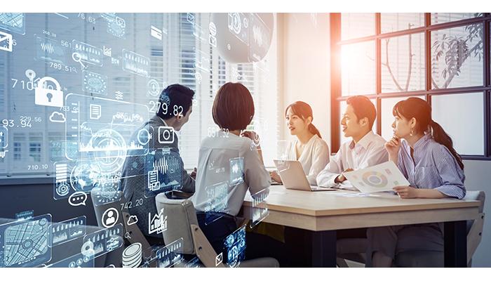 AI開発について話し合うチーム