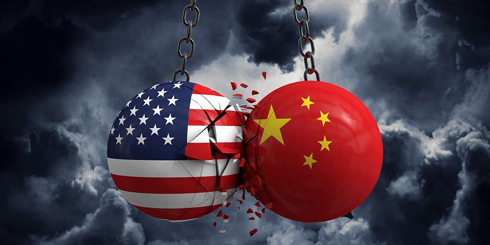 アメリカと中国の貿易摩擦のイメージ
