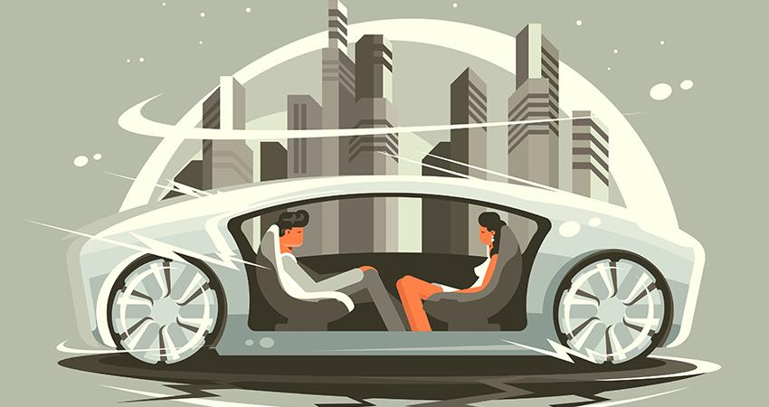 自動運転の未来のイメージイラスト